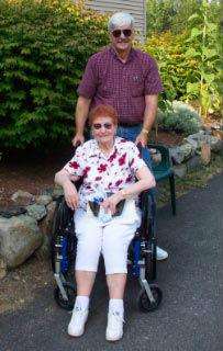 Elderly Lady In Wheelchair