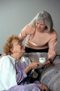 Homemaker Handing Coffee